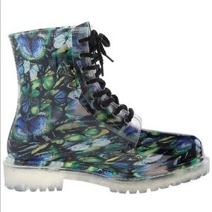 Dirty Laundry roadie butterfly rainboots